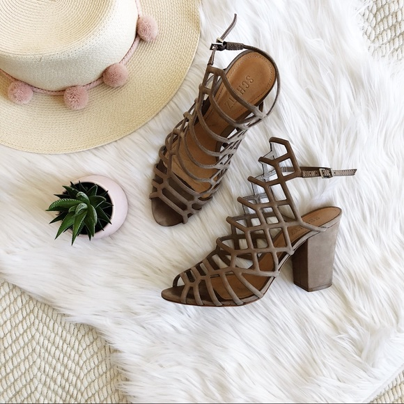 16411be74e SCHUTZ Shoes | Strappy Caged Sandals | Poshmark
